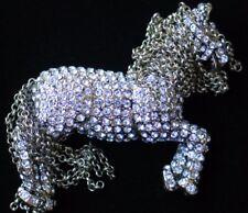 NEW HEIDI DAUS HORSE PONY MOVABLE MANE CHAIN PIN BROOCH JEWELRY $169 TALLY HO