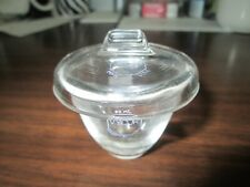 Vintage Vycor Clear Glass Crucible 30ml with Lid Laboratory Science (one set)