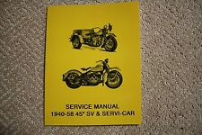 1940-1958 45 SIDE VALVE AND  HARLEY SERVI-CAR  SERVICE MANUAL