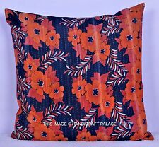"24"" KANTHA VINTAGE CUSHION COVER THROW Indian Cotton Home Decorative Ethnic"