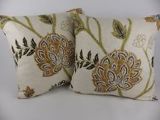Harlequin Zahana fabric Cushion Covers Large Green Black Natural Linen