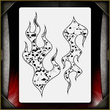 Skull Flames Hell Fire 4 Airbrush Stencil Template Airsick