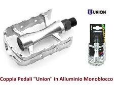 """29547 - Coppia Pedali """"Union"""" Sport in Alluminio per Bici 20-24-26 Pieghevole"""