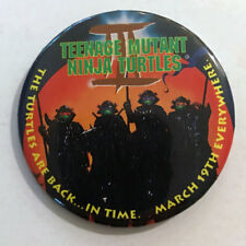 TEENAGE MUTANT NINJA TURTLES II (1992) Advance Movie Promotional Pinback Button
