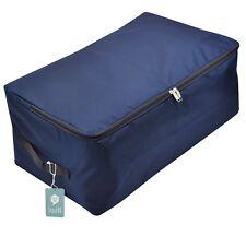 Soft Oxford Fabric Clothes Storage Bag, 2 Pcs, Dark Blue