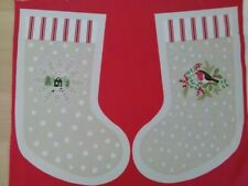 Robin, Christmas Stocking Panel by Lewis & Irene, 100% Cotton, Craft