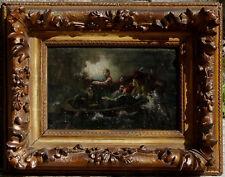 La Pêche Miraculeuse, 1860, Exceptionnelle Etude de Maître! Cadre d'Epoque!!