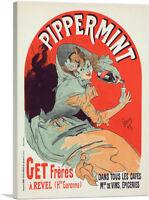 ARTCANVAS Pippermint Canvas Art Print by Jules Cheret