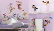 Disney Tinkerbell Fairies 23 Glittery Peel & Place Wall Stickers ~ NIP