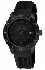 *BRAND NEW* Wenger Unisex All Black-Tone Analog Dial Silicone Watch 01.0851.126