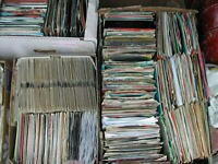 "JOB LOT 40 X 7"" SINGLES 70'S - 80'S  (20 OF EACH) ALL BAGGED - G-VG+ POST FREE"