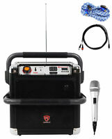 "Rockville RJS8  8"" Portable Karaoke Machine 4 ipad/iphone/Android/Laptop/T.V."