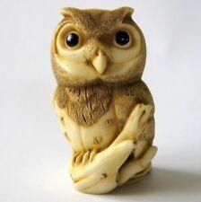 MPS Harmony Kingdom - QTs - Small Owl Figurine / Ornament - Inspired by Netsuke