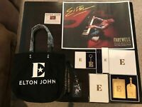NEW ELTON JOHN FAREWELL YELLOW BRICK ROAD TOUR - VIP GIFT BAG WITH MEMORABILIA