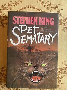 Pet Sematary, Stephen King, Hardcover, Stunning Copy!