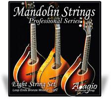 More details for mandolin string set for bluegrass chop bronze full string set light adagio pro