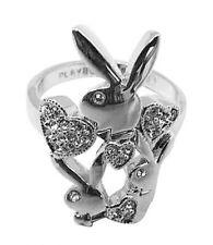 Caballeros anillo de mujer banda playboy Dome anillo Anillo de compromiso acero inoxidable negro