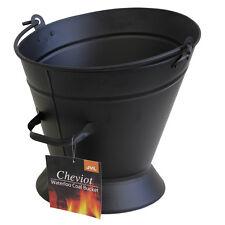 JVL Cheviot Waterloo Fireside Accessory Coal Bucket, Matte Black