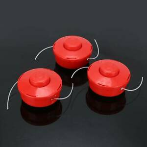 3x Universal Strimmer Mower Replace Bump Feed Line Spool Head Brush Cutters UK