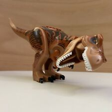 LEGO Jurassic World T Rex Tyrannosaurus Minifigure Orang Brown Loose Figure