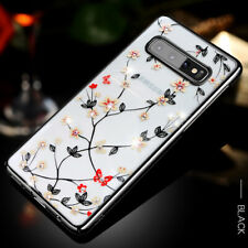 Flower Pattern Glitter Bling Slim Shockproof Case Cover For Samsung Note10 Plus