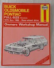 Buick, Oldsmobile, Pontiac Full-Size Models Owners Workshop Manual by Ken Freund