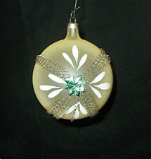Ant. Blown Glass Wire Wrapped Hp Christmas Ornament Made In Austria