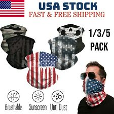 Face Mask Neck Gaiter Balaclava Bandana Scarf Fishing Tube Headwear Shield