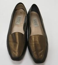 ENZO ANGIOLINI Gold Leather Flat Shoes Size 9.5M 9 1/2