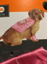 New Xs / Small Dog Pet Halloween Costume Superhero Pink Cape Up To 20lbs