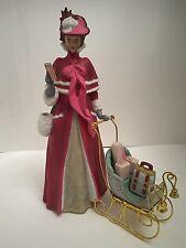 AVON Starr Presidents Club Figurine Statue Mrs. Albee 1989 With Sleigh
