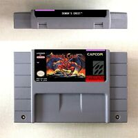 Demon's Crest Game Card US Version For Nintendo SNES 16 Bit English