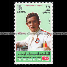 ★ JACKIE ICKX Pilote F1 (Formule 1) ★ YEMEN 1969 Timbre Auto / Car Stamp #2