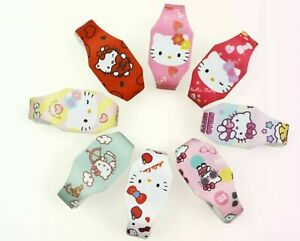1x Kids Children Girl Hello Kitty Cute Silicone Rubber Band Wrist LED Watch Gift