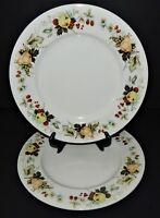 "2 Royal Doulton Miramont Dinner Plates China 10 5/8"" TC1022 Fruit Pattern"