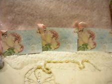 Shabby Gift Tags Vintage Paris / French Roses Peach / Blue (3)