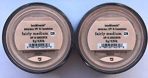 Bare Escentuals BareMinerals Foundation Fairly Medium C20 8g XL SPF15  PACK OF 2