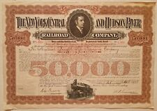 1931 The New York and Hudson River Railroad Company Bond Stock Certificate