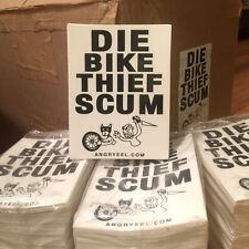 DIE BIKE THIEF SCUM vinyl sticker 12 pack bmx fixie track road