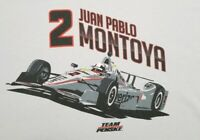 Team Penske Racing IndyCar 500 Juan Pablo Montoya Graphics T Shirt Size 2 XL
