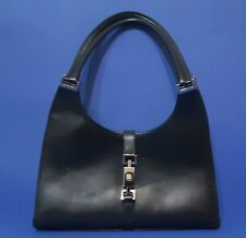 GUCCI Vintage  Black Leather Jackie O Shoulderbag Bag