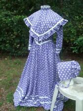 Pioneer Prairie Frontier Dress Size 12 Dress Shawl Bonnet