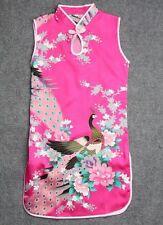 Fuschia Kid Child Girl's Baby Peacock Cheongsam Dress Qipao Size 2 for 1-2 Year
