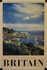Affiche BRITAIN TORQUAY DEVONSHIRE Années '50 Tourisme