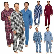 Mens Traditional Pyjamas | Warm Button Up | Striped, Checked, Flannel | Mens Pjs