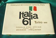 Centenario dell'Unità d'Italia astuccio portamonete ZECCA italiana