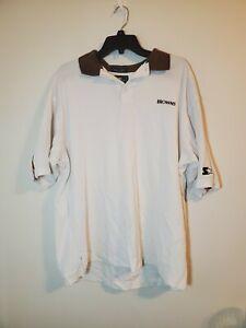 Starter NFL Mens Cleveland Browns Short Sleeve Polo Shirt Size XL