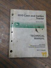 John Deere 355D Lawn Garden Tractors Technical Manual sn 085001 - Tm1771