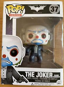 Funko Pop Heroes #37 The Joker Bank Robber VAULTED RARE