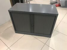 Bisley Low Tambour 2 Door Filling Cabinet Metal Office Storage Unit Grey WALTON